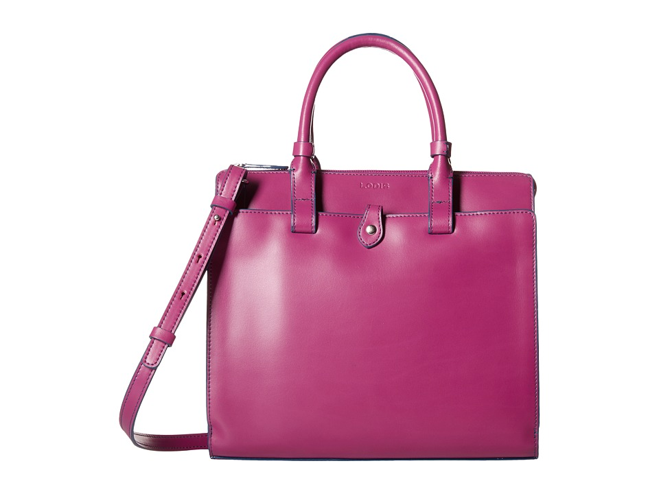 Lodis Accessories - Audrey Linda Medium Satchel (Plum/Indigo) Satchel Handbags