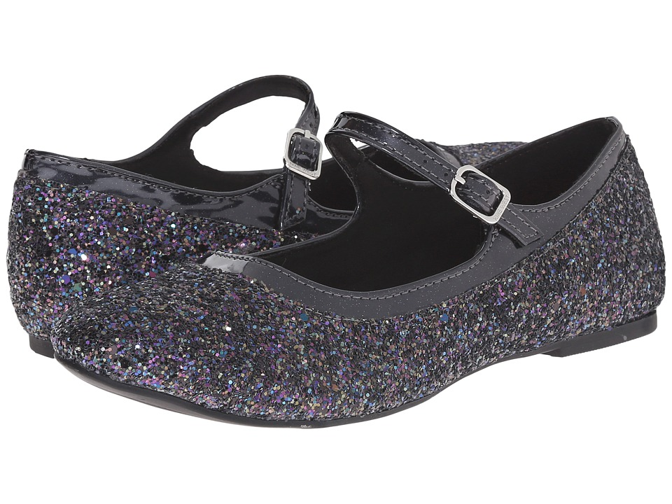 Nine West Kids - Figi (Little Kid/Big Kid) (Black Glitter) Girl