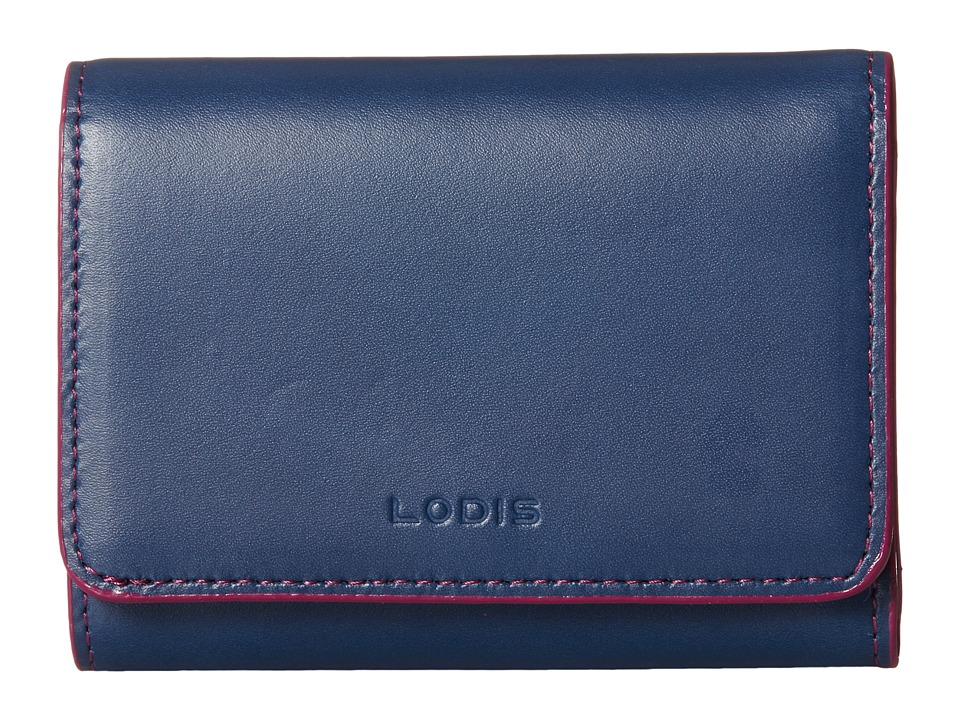 Lodis Accessories - Audrey Mallory French Purse (Indigo/Plum) Wallet Handbags