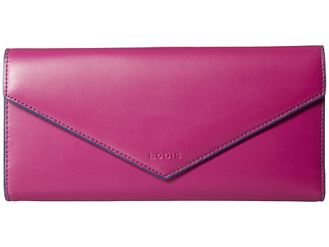 Lodis Accessories - Audrey Alix Trifold (Plum/Indigo) Wallet Handbags