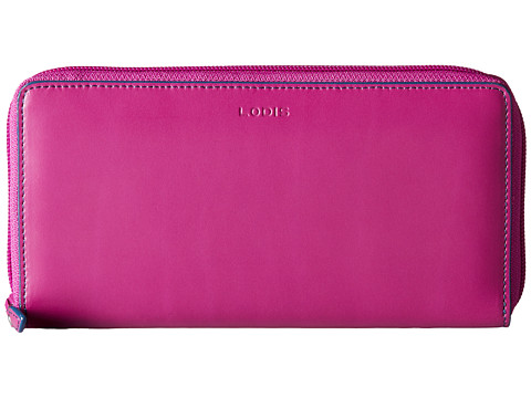 Lodis Accessories - Audrey Iris Zip Around (Plum/Indigo) Checkbook Wallet