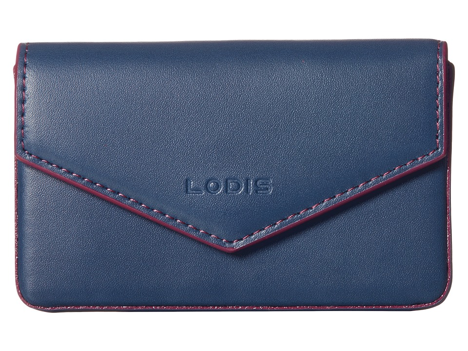 Lodis Accessories - Audrey Maya Card Case (Indigo/Plum) Credit card Wallet