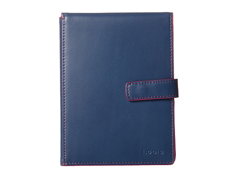 Lodis Accessories - Audrey Flip Ticket/Passport Wallet (Indigo/Plum) Bi-fold Wallet