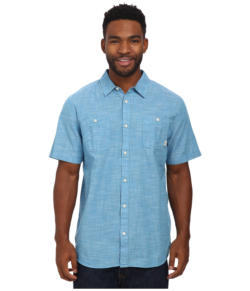 Vans - Guilder lll (Maliblue) Men's Short Sleeve Button Up