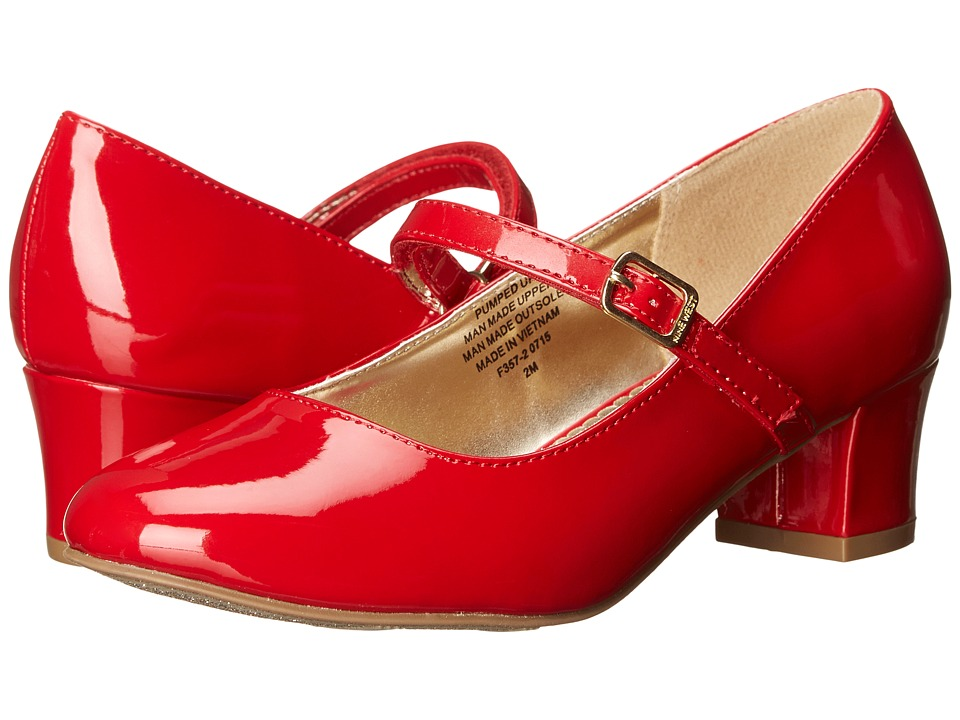 Nine West Kids - Pumped Up (Little Kid/Big Kid) (Red Patent) Girl's Shoes