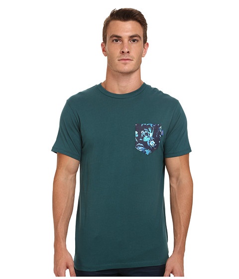 Vans - Death Bloom Pocket Tee (Atlantic Deep) Men's T Shirt