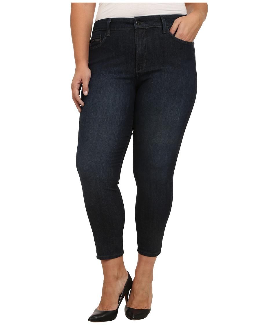NYDJ Plus Size - Plus Size Clarissa Ankle Jean in Dark Enzyme (Burbank) Women's Jeans
