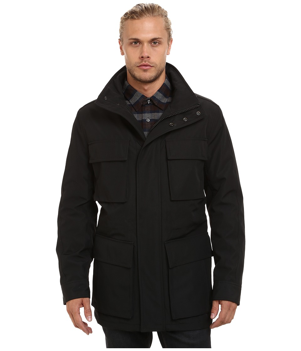 Marc New York by Andrew Marc - Winthrop City Rain Four-Pocket Anorak (Black) Men's Coat