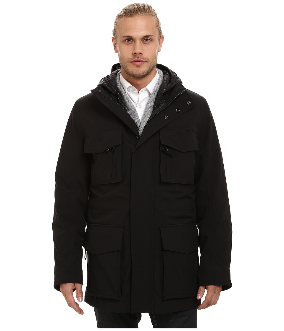 Marc New York by Andrew Marc - Empire Bonded Rain 3-in-1 Systems Parka (Black) Men