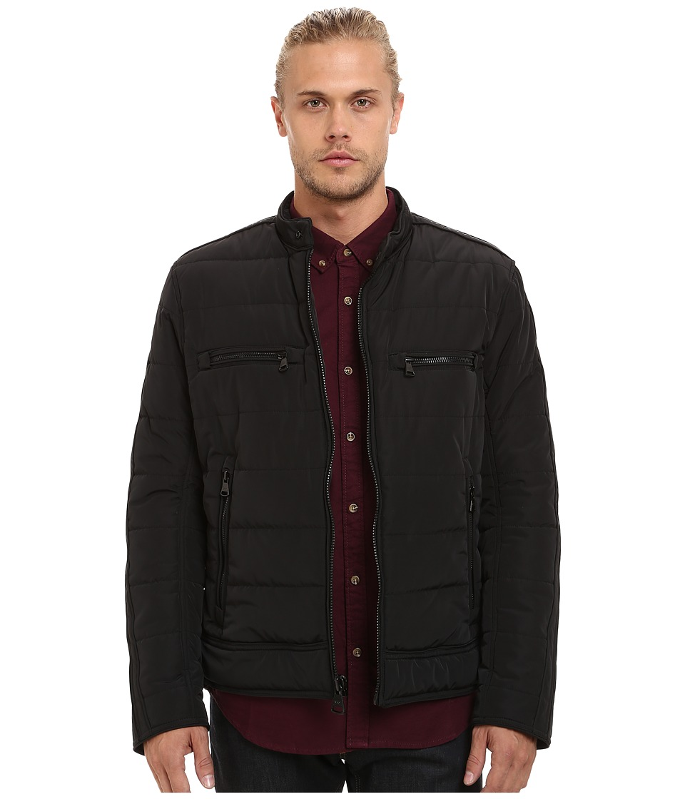 Marc New York by Andrew Marc - Baxter Polyfill Microsheen Quilted Moto Jacket (Black) Men's Coat
