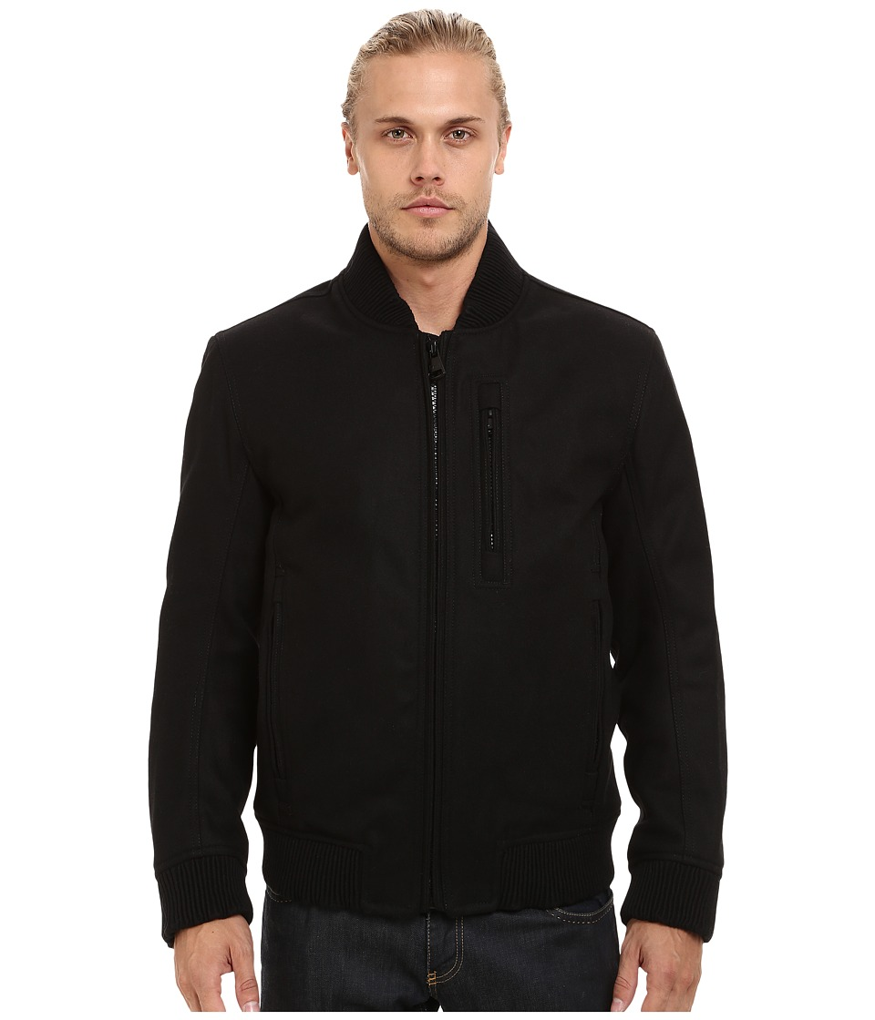 Marc New York by Andrew Marc - Rikers Pressed Wool Bomber (Black) Men's Coat