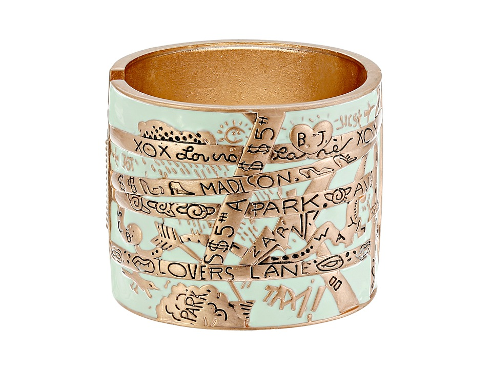 Betsey Johnson - Wanderlust Map Hinge Cuff (Mint Green) Bracelet