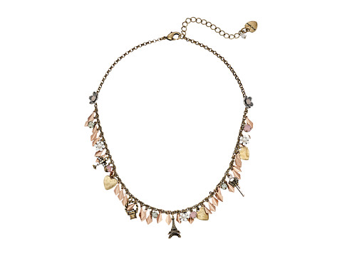 Betsey Johnson - Wanderlust Mini Frontal Necklace (Crystal) Necklace