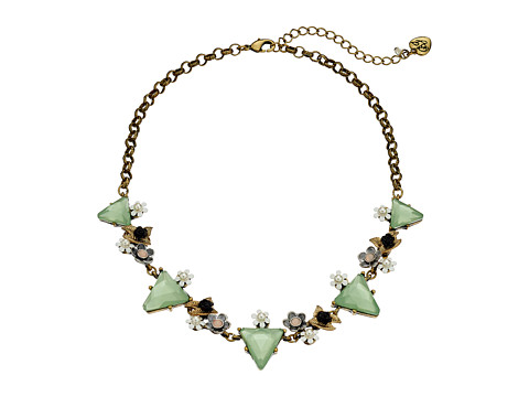Betsey Johnson - Wanderlust Triangle Frontal Necklace (Mint Green) Necklace