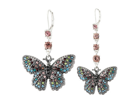 Betsey Johnson - Butterfly Effect Mismatch Earrings (Multi) Earring