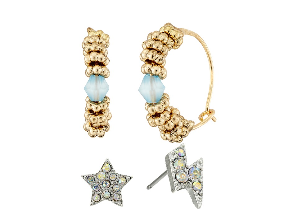 Betsey Johnson - Celestial Earring Set (Crystal) Earring