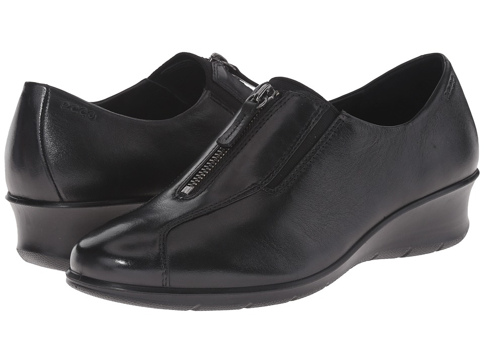 ECCO - Felicia Zip (Black) Women's Wedge Shoes