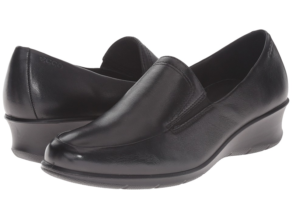 ECCO - Felicia Slip-On (Black) Women's Slip-on Dress Shoes