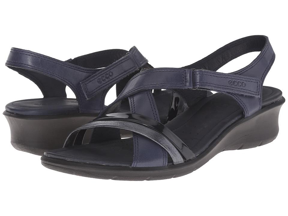ECCO - Felicia Sandal (Marine/Black/Marine) Women's Sandals