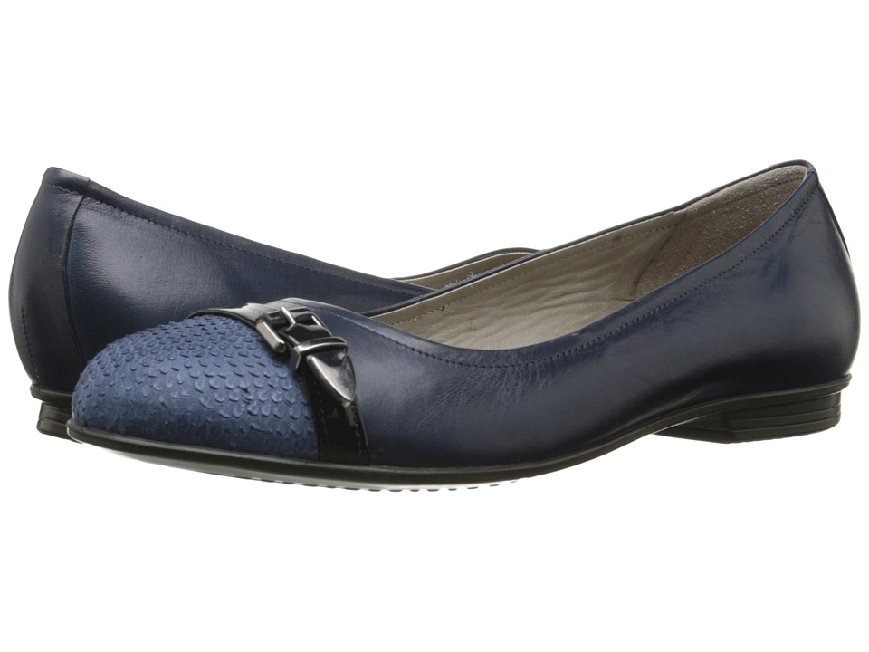 ECCO Touch Ballerina Buckle (Denim Blue/Marine/Marine) Women