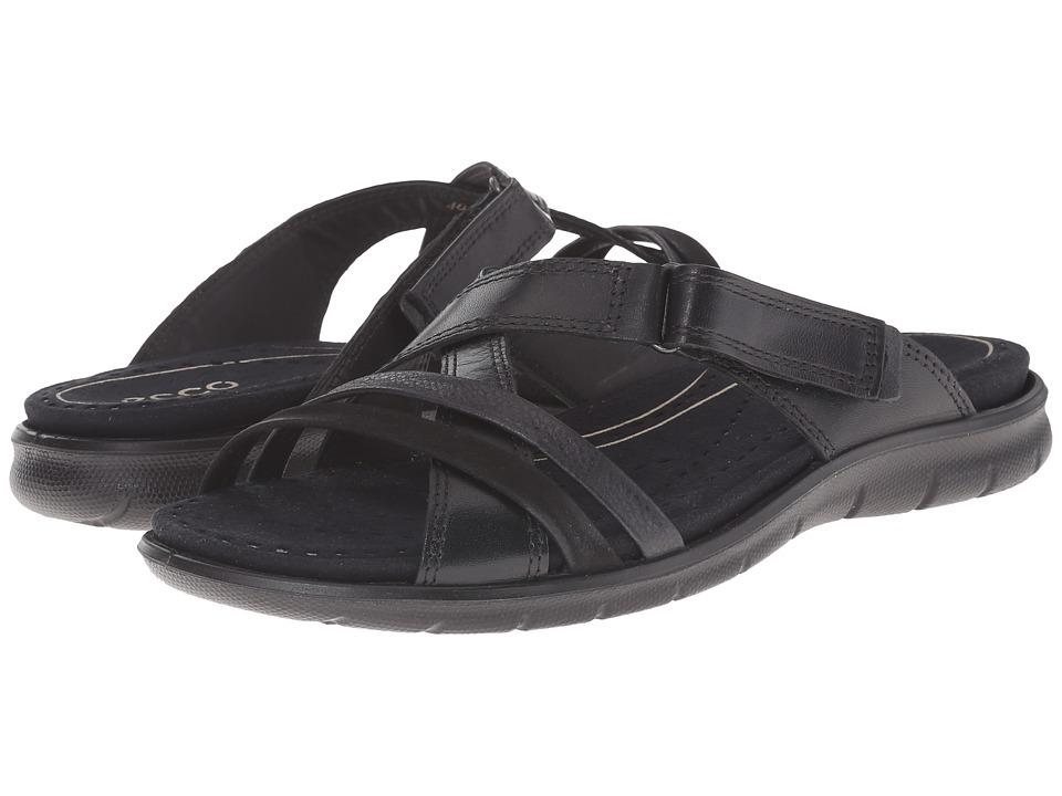 ECCO Babett Sandal Strap Slide (Black/Black 1) Women