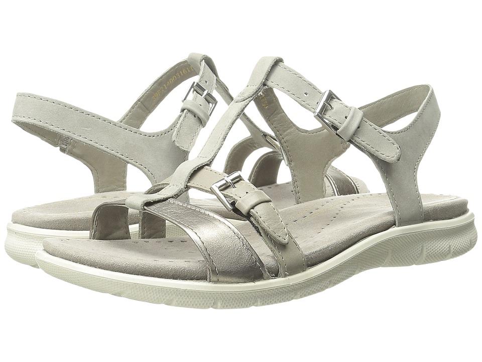 ECCO - Babette Sandal T-Strap (Moon Rock/Moon Rock 1) Women's Sandals