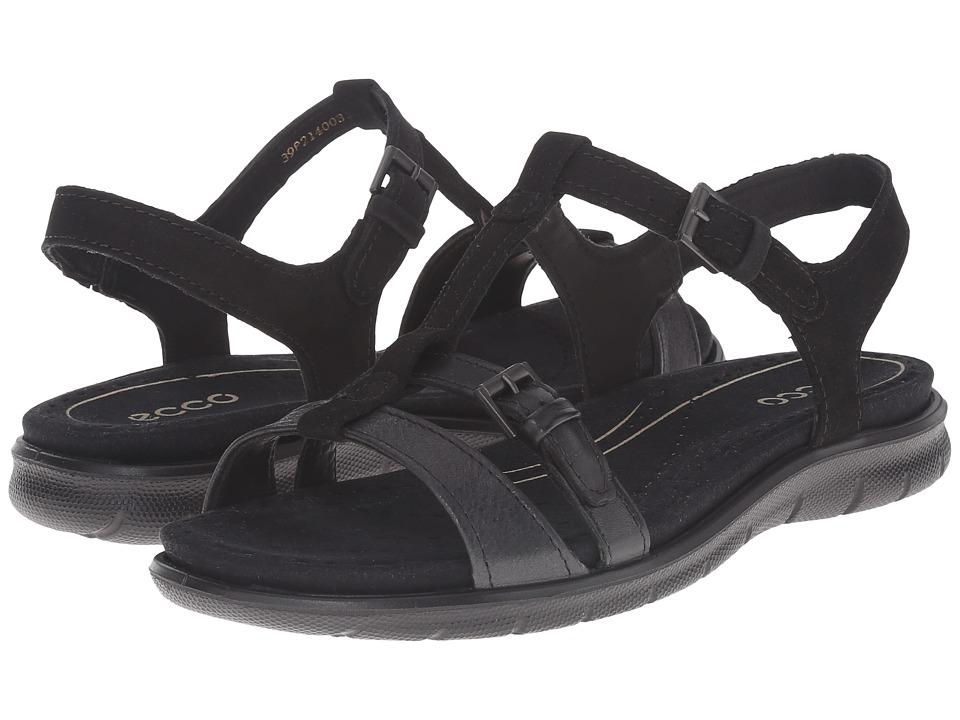 ECCO - Babette Sandal T-Strap (Black/Black 1) Women's Sandals