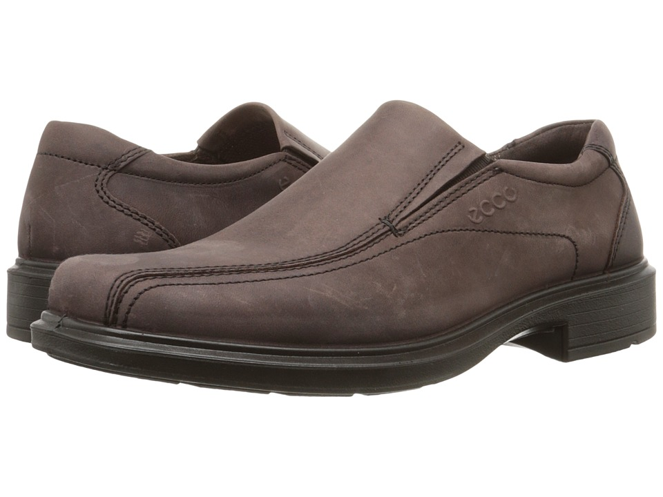 ECCO - Helsinki Slip On (Mocha) Men's Slip-on Dress Shoes
