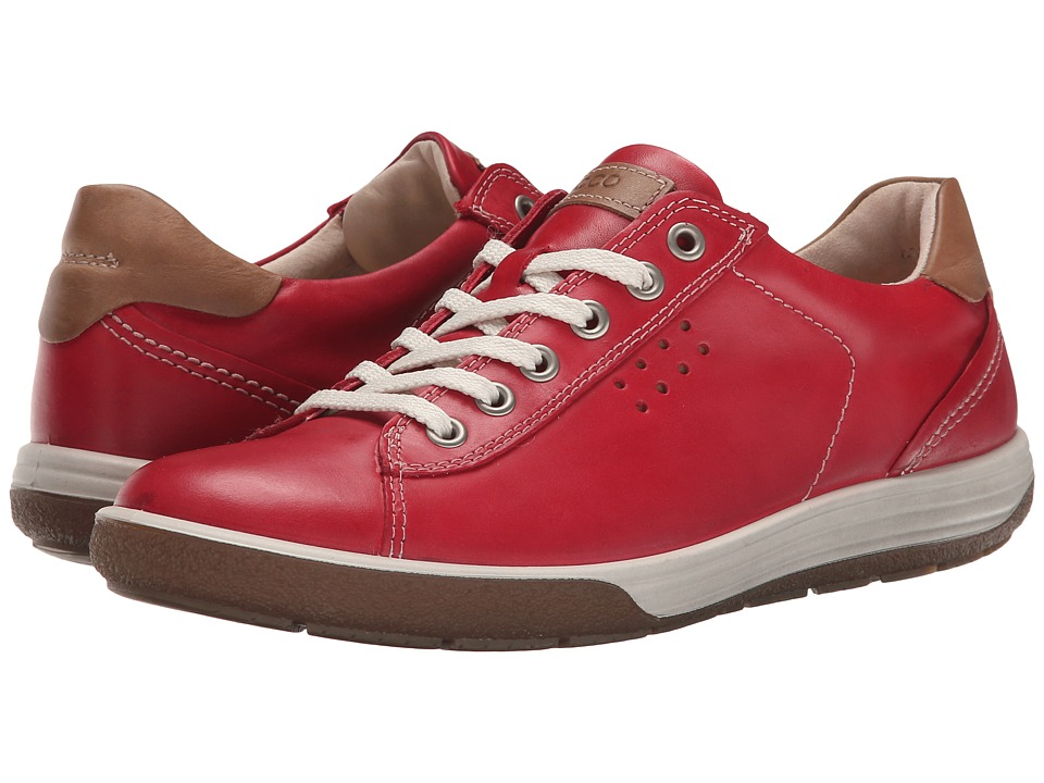 ECCO - Chase II Tie (Chili Red) Women's Lace up casual Shoes