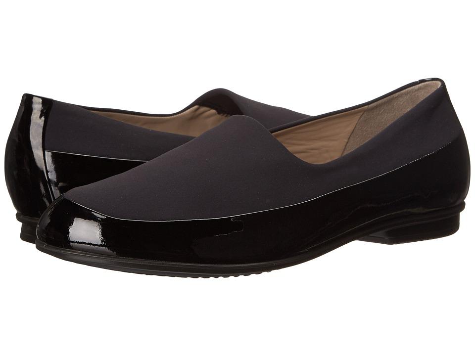 ECCO - Touch Ballerina Stretch (Black/Black) Women's Flat Shoes