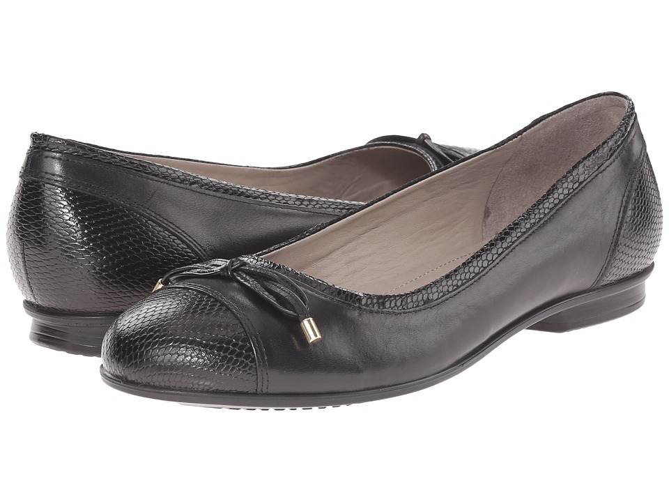 ECCO - Touch Ballerina Bow (Black/Black) Women's Flat Shoes