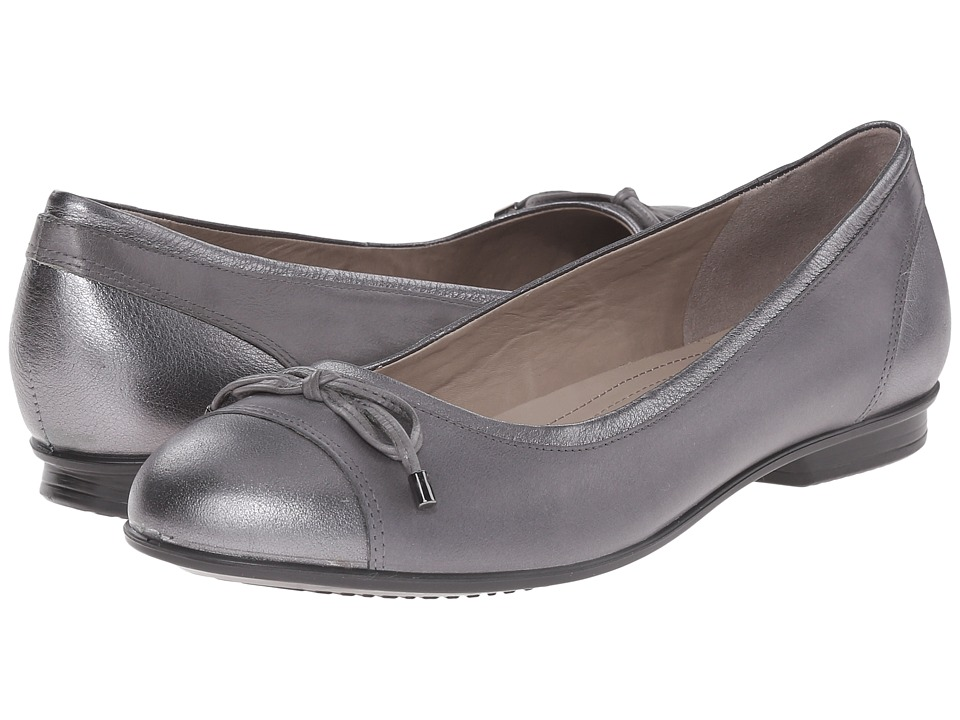 ECCO - Touch Ballerina Bow (Dark Shadow/Metallic/Titanium) Women's Flat Shoes