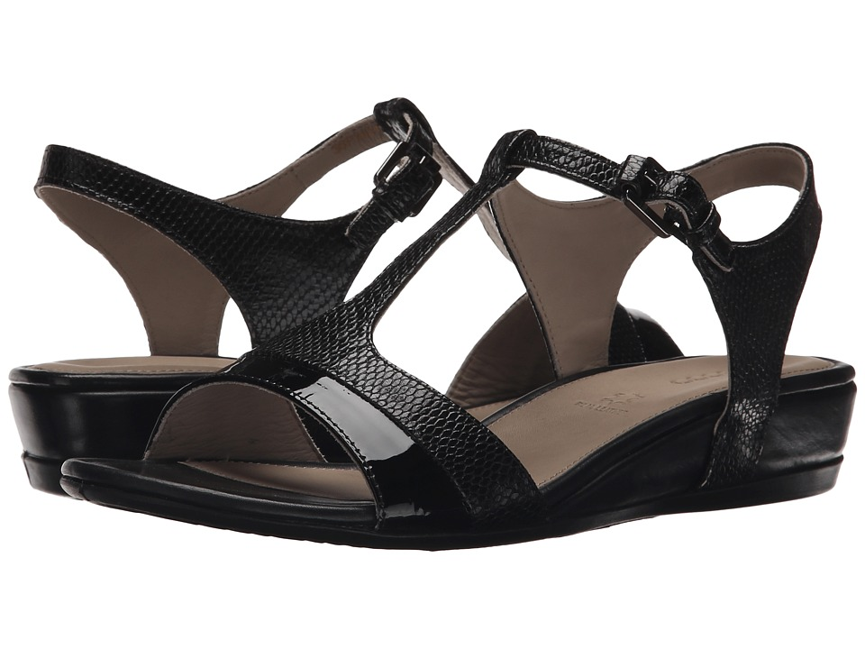 ECCO - Touch 25 Strap Sandal (Black/Black) Women's Shoes