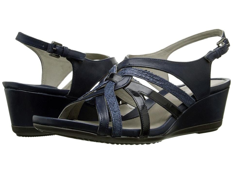 ECCO - Touch 45 Wedge Sandal (Marine/Denim Blue/Marine) Women's Wedge Shoes