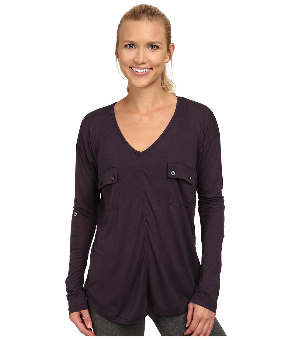 Tonic - Natasha Long Sleeve Top (Plum) Women's Long Sleeve Pullover