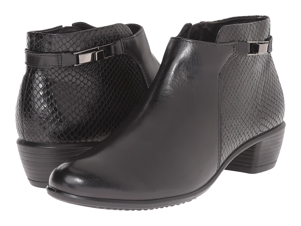 ECCO Touch 35 Ankle Boot (Black/Black) Women