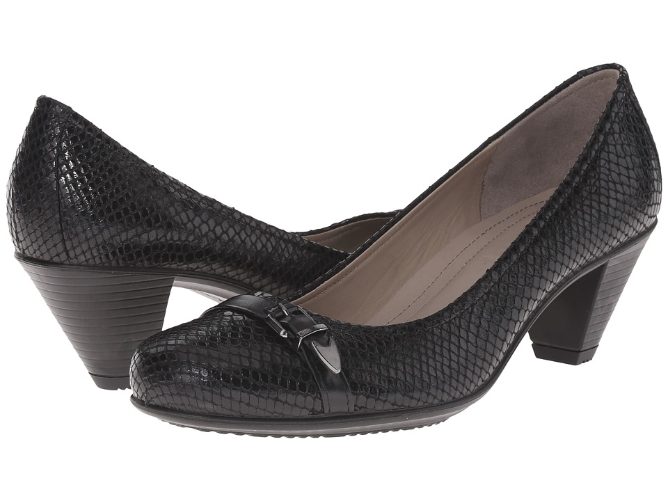 ECCO - Touch 50 Pump (Black/Black 1) High Heels