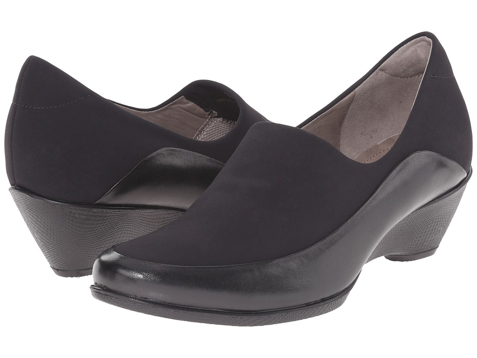 ECCO - Sculptured 45 Stretch (Black/Black) Women's Wedge Shoes