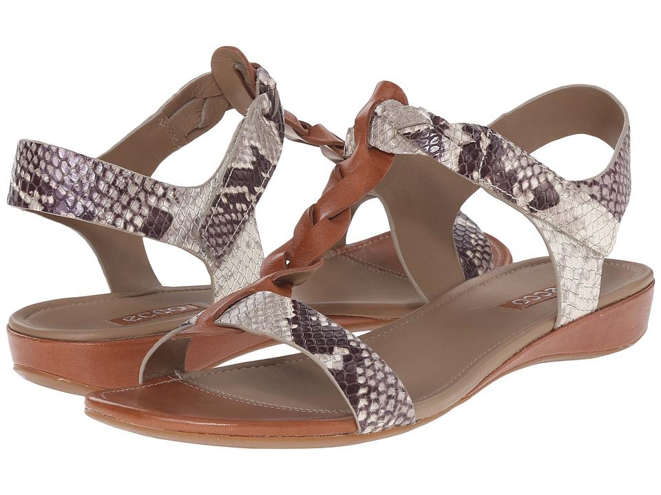 ECCO Bouillon Knot Sandal II (Cognac/Sage) Women