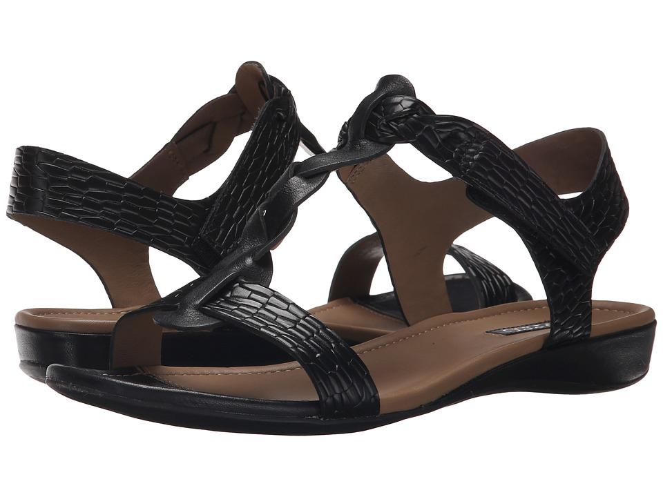 ECCO - Bouillon Knot Sandal II (Black/Black 1) Women's Sandals