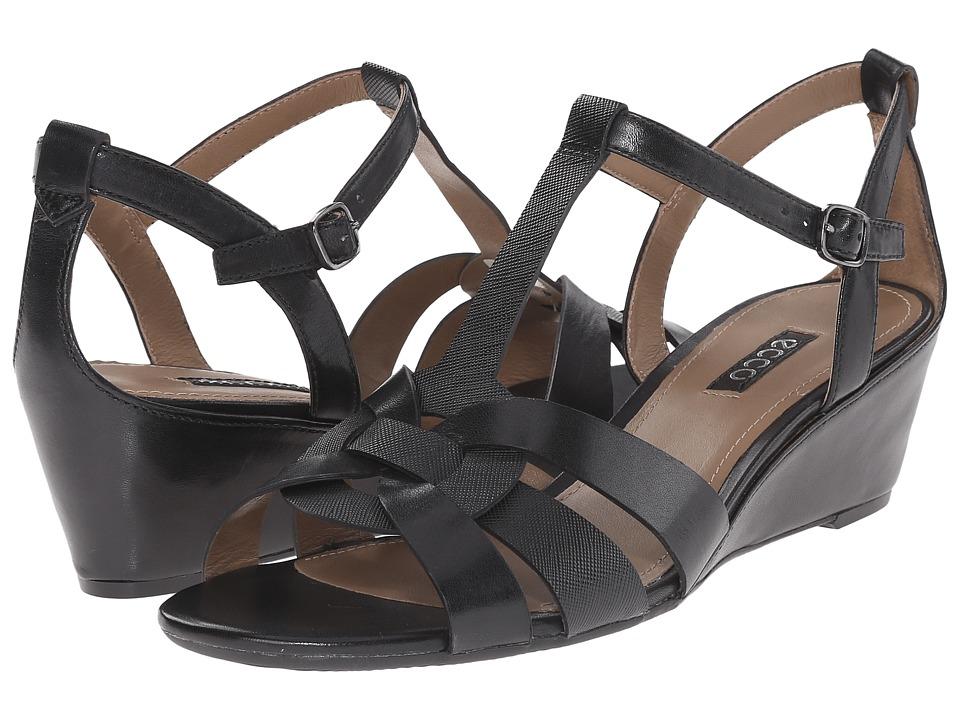 ECCO - Rivas 45 Wedge (Black/Black) Women's Wedge Shoes