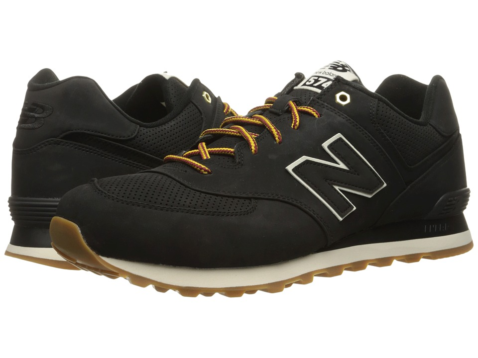 New Balance Classics - ML574 (Black Synthetic) Men's Shoes