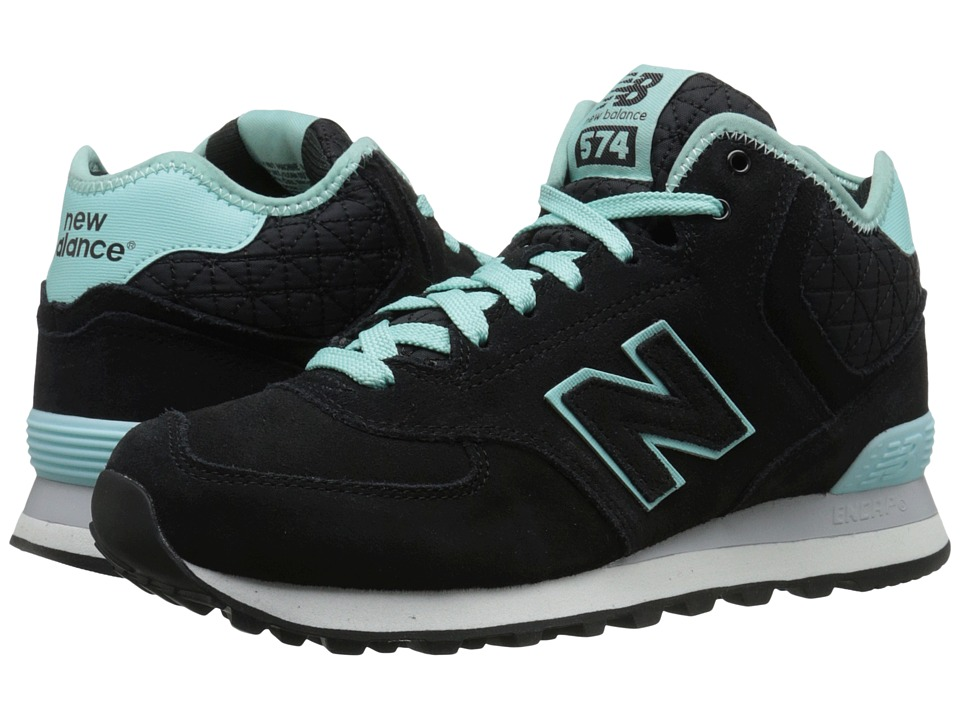 New Balance Classics WH574 (Black Suede/Mesh) Women