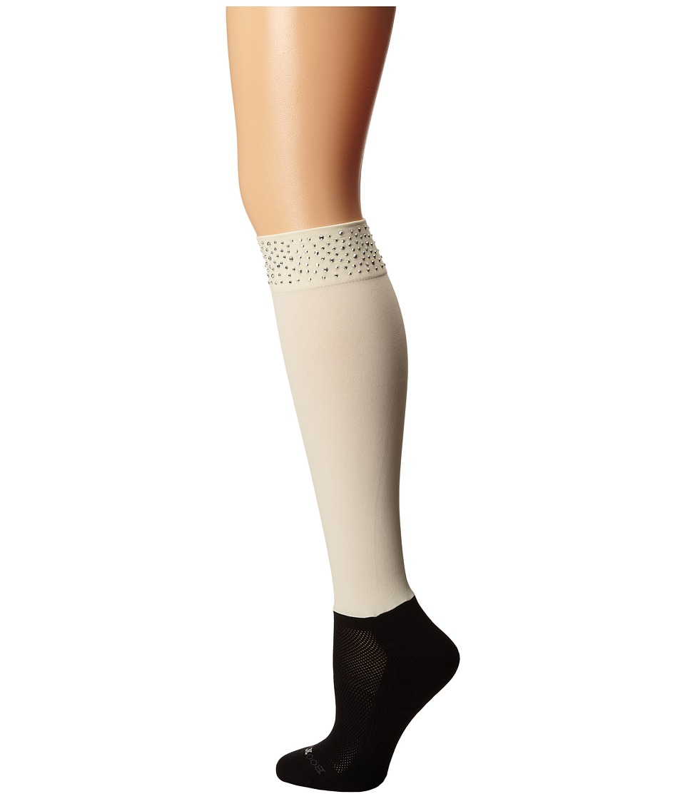 BOOTIGHTS - Roxy Rhinestone Darby (Cream) Women's Crew Cut Socks Shoes