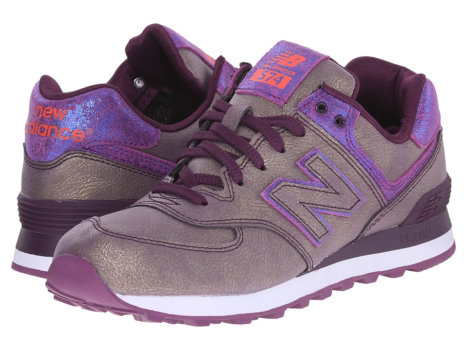 New Balance Classics - WL574 (Purple Synthetic) Women's Lace up casual Shoes