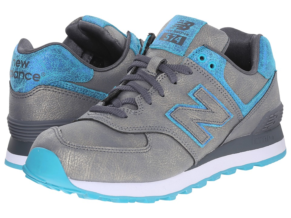 New Balance Classics - WL574 (Grey/Blue Synthetic) Women's Lace up casual Shoes