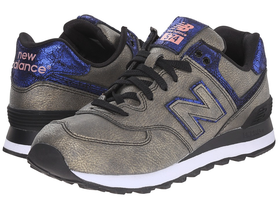 New Balance Classics - WL574 (Black/Purple Synthetic) Women's Lace up casual Shoes