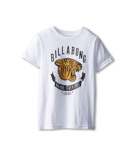 Billabong Kids - Eye Of The Tiger (Toddler/Little Kids) (White) Boy's T Shirt