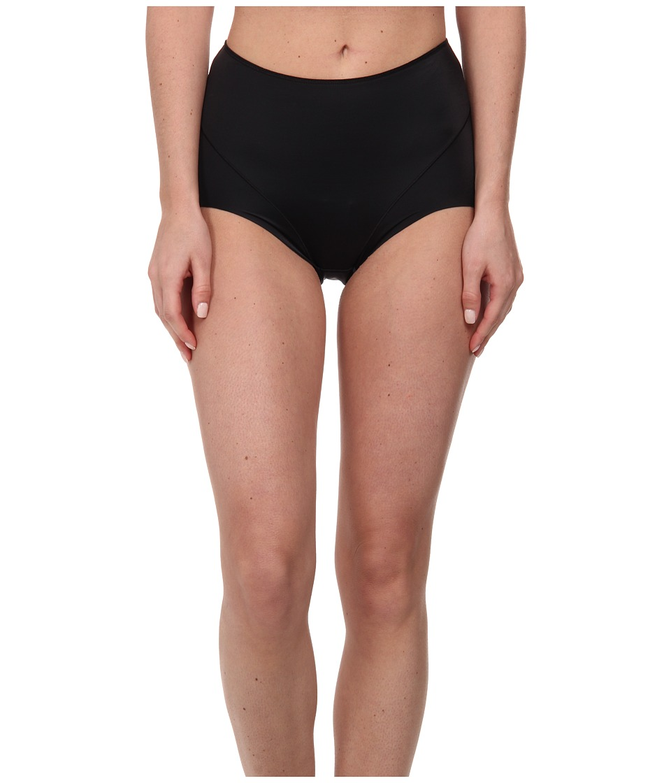 Jockey - Slimmers Front Panel Brief (Black) Women's Underwear