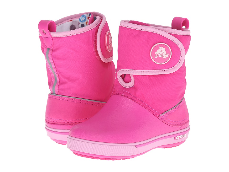 Crocs Kids - Crocband II.5 Gust Boot (Toddler/Little Kid) (Neon Magenta/Carnation) Kids Shoes